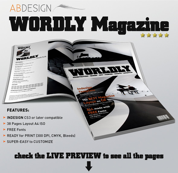 wordly magazine indesign template flickr photo sharing. Black Bedroom Furniture Sets. Home Design Ideas