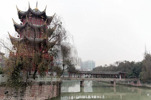 Pagoda in Chengdu Park