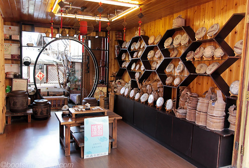 Pu'erh tea shop in Lijiang