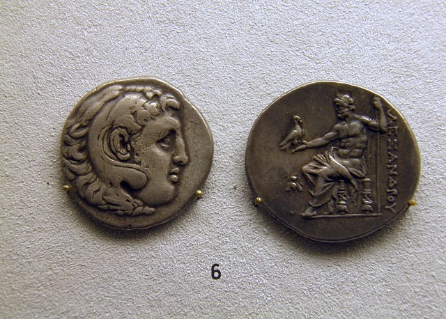 Tetradrachme of Alexander the Great, ca 280 BC, Pergamon: Panorama of the Ancient City Exhibition, Pergamon Museum, Berlin