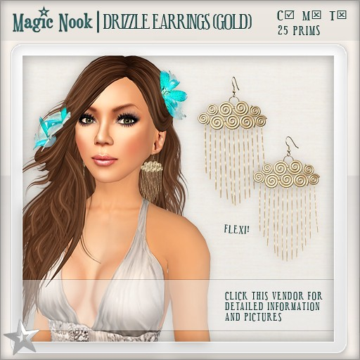 [MAGIC NOOK] Drizzle Earrings (Gold)