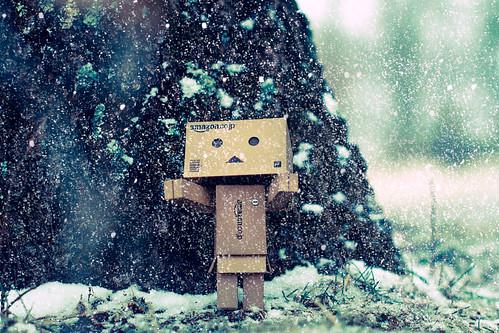 無料写真素材, 物・モノ, 玩具・おもちゃ, 人形・ドール, よつばと, ダンボー, 雪