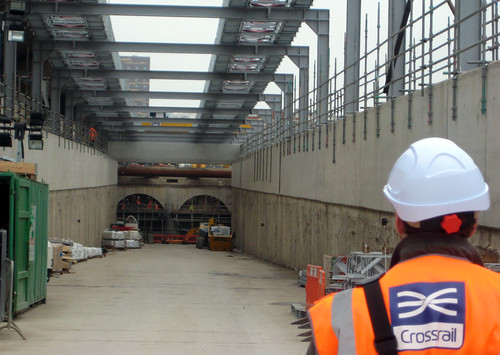 Approaching the tunnels - Crossrail