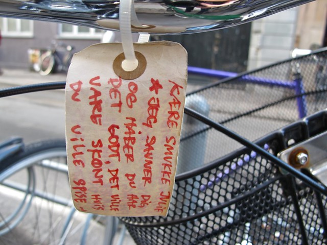 Love letter on a bike