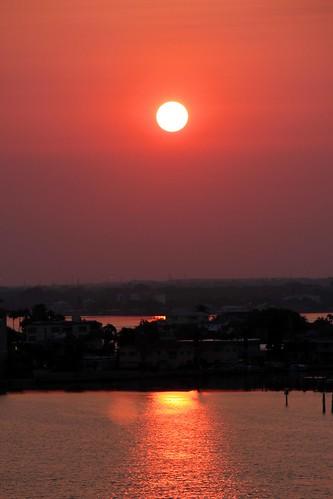 sunset beach sunrise clearwaterbeach iphotooriginal redsun iphotoconverted