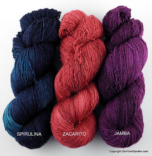 Fickle Zen Mystery KAL #2 Yarn Colors