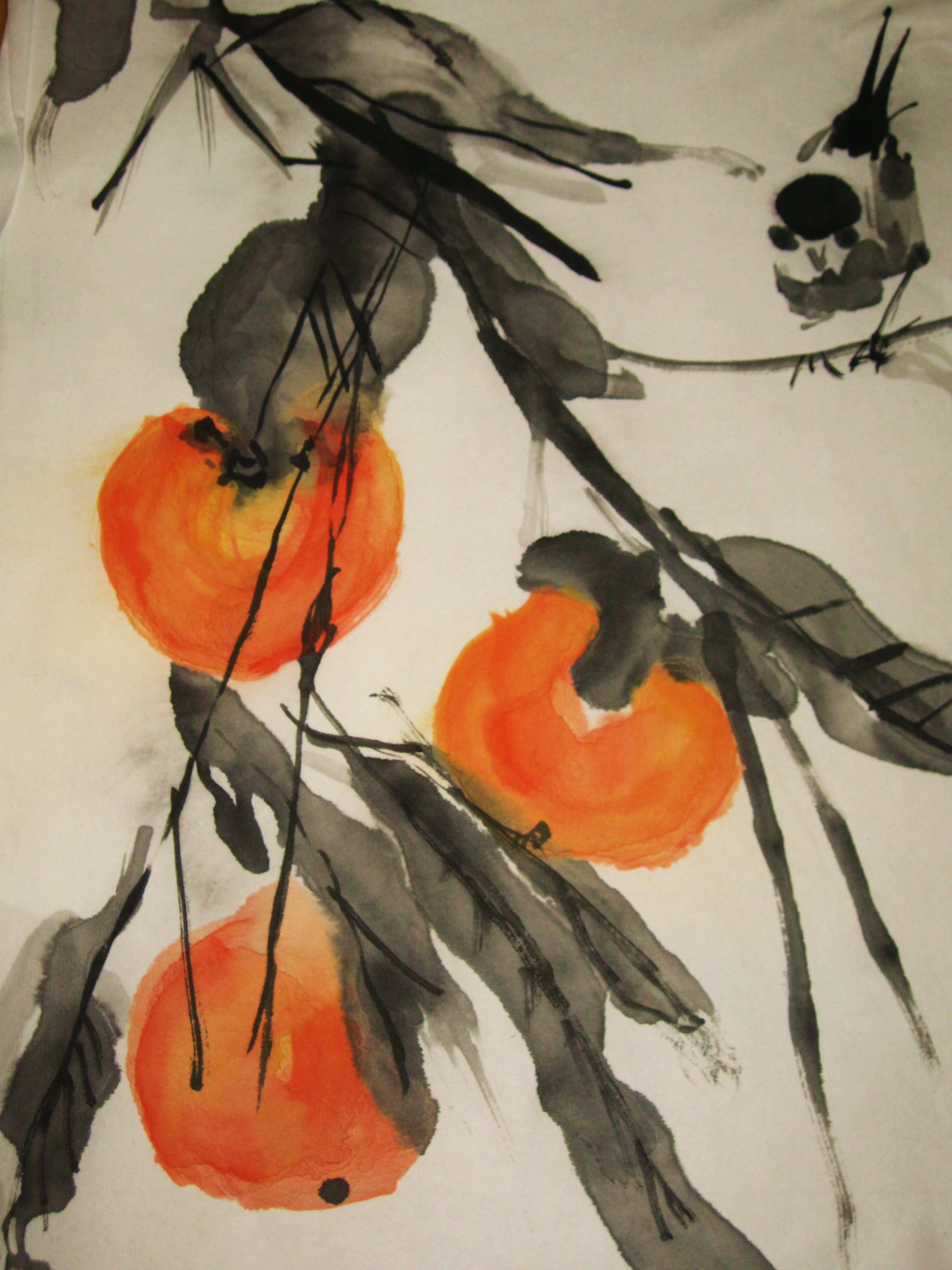 Oranges Sumi E Painting Flickr Photo Sharing