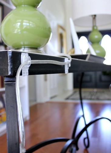 Hide lamp cords