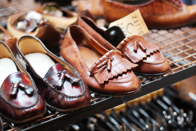 blitz vintage department store shoreditch london loafers