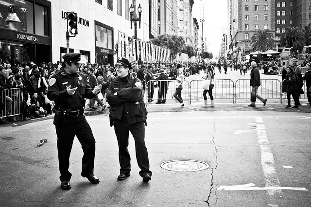 The police officers