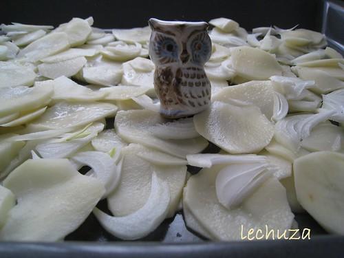 Chicharros-Jureles al horno-fondo patatas