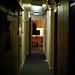 Backstage corridor