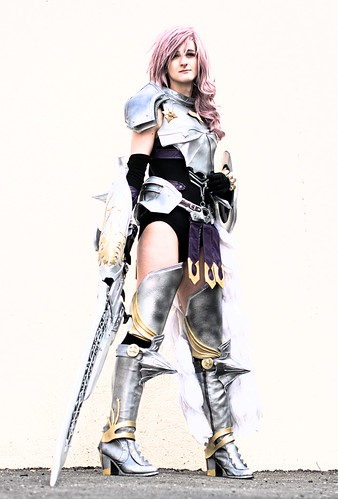 [Free Images] People, Women, Cosplay, Final Fantasy XIII , Lightning (Éclair Farron), French People ID:201203111400