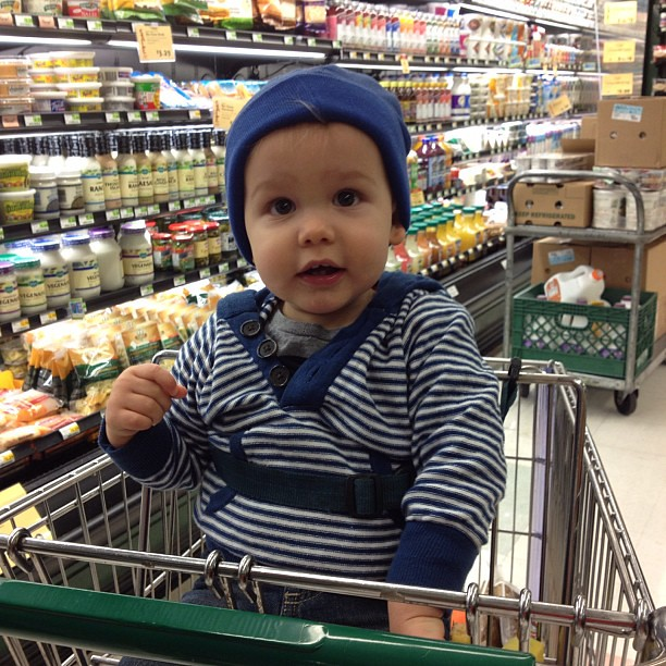 our little food shopping buddy!
