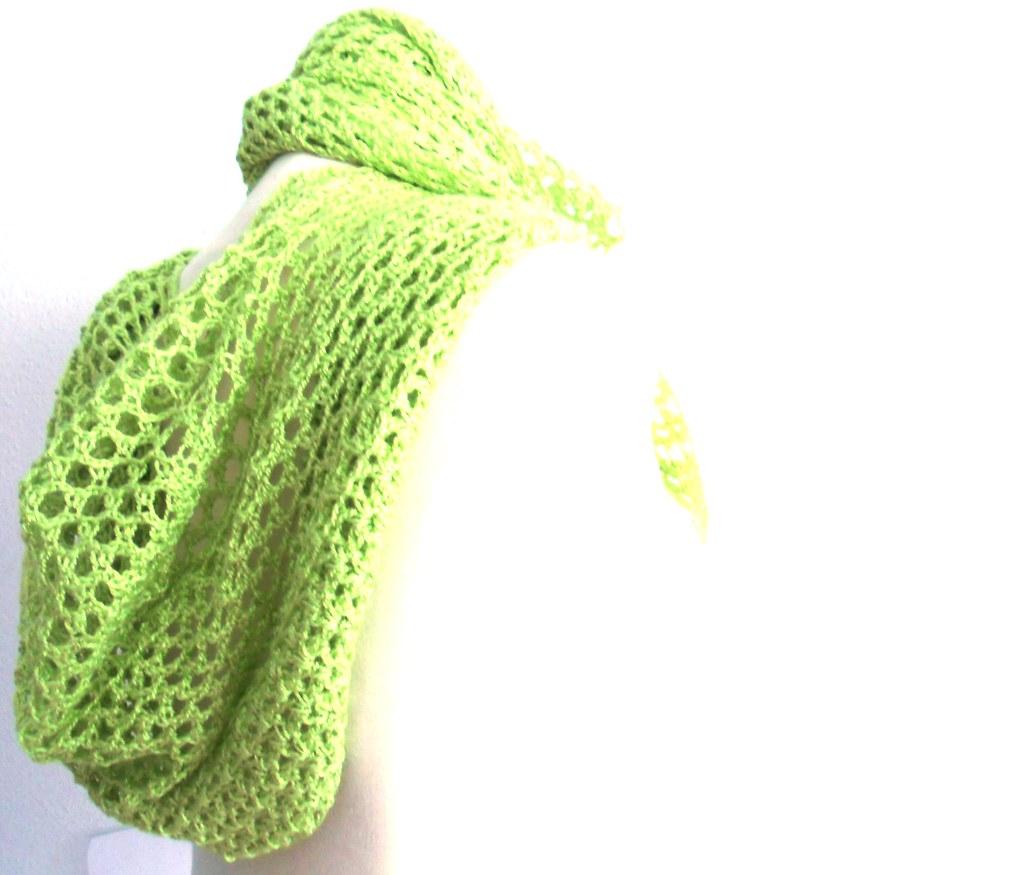 Foulard capucha verde manzana