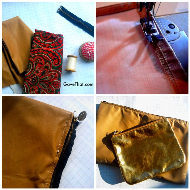 39ebda3104 DIY Leather Pouch Clutch. celine shoulder bag in grained leather.  149