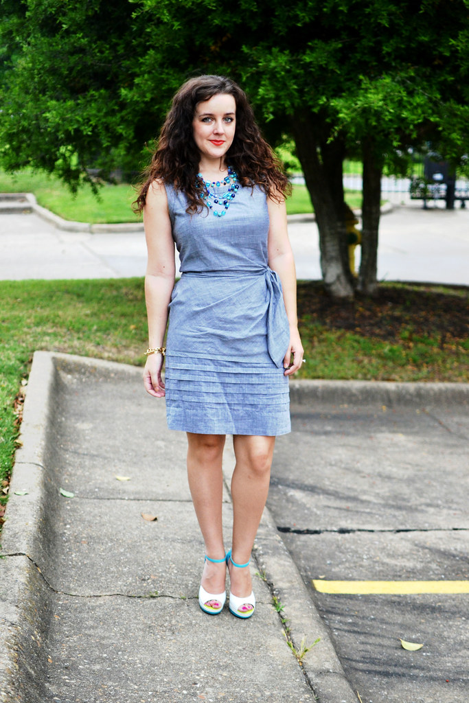 Chambray limited dress
