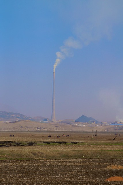 Hamhung Countryside Smokestack, North Korea