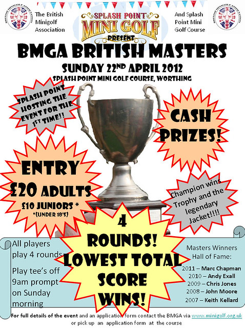 2012 BMGA BRITISH MASTERS COMPETITION