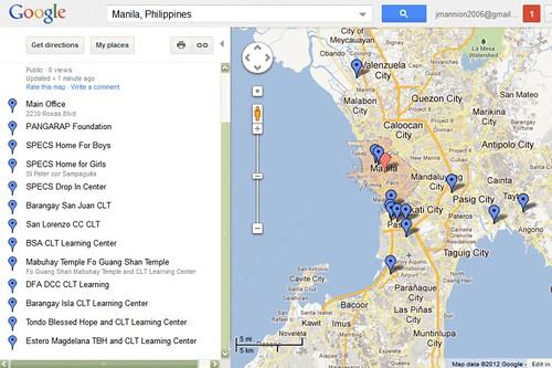 Map of CLT in Manila