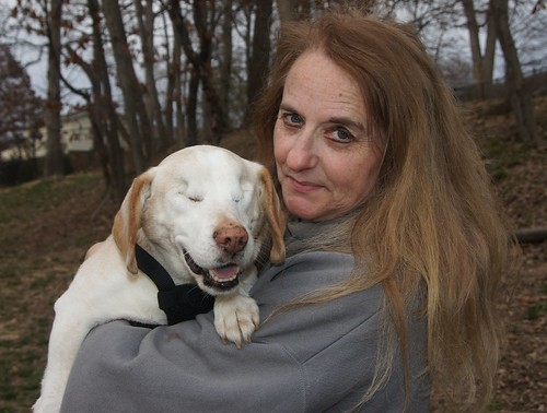 Patty and the beagle named 'Buddy' she rescued