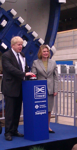 Boris Johnson and Secretary of State for Transport - Justine Greening - Crossrail Tunnel Boring Machine Launch - 13th March 2012