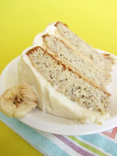 banana birthday cake