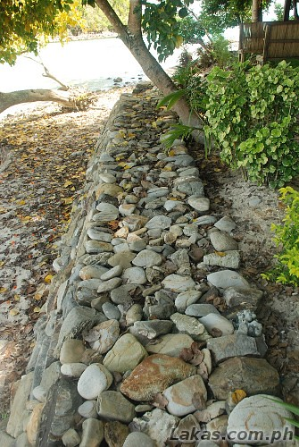 Pathway made of rocks