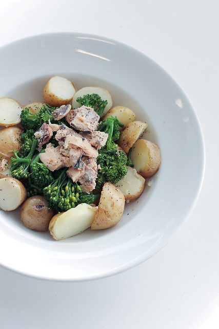Sardines, Broccoli and New Potatoes