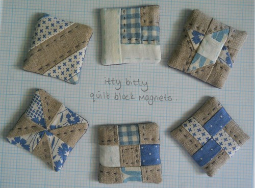 itty bitty quilt block magnets