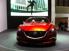 automobile, automotive exterior, vehicle, automotive design, mazda, mazda3, auto show, mid-size car, land vehicle,