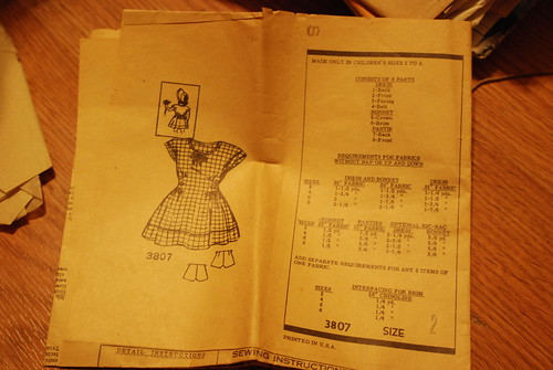 87 vintage child's pattern