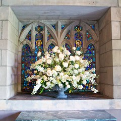 Entry flowers and window