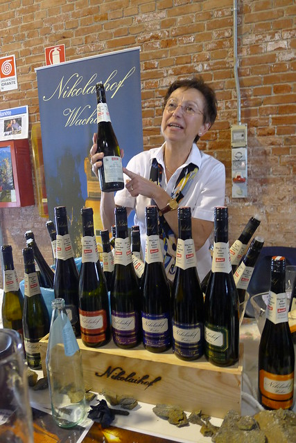 This lady from Nikolaihof winery from Wachau was the kindest that day in Cerea.