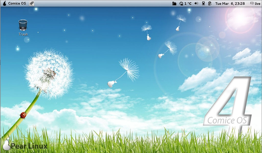 pear os 4 comice is released looks like mac noobslab tips