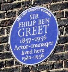 Photo of Philip Ben Greet blue plaque