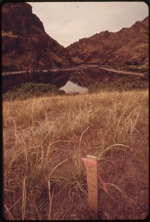 Campsite on the Snake River.  In Hells Canyon between Idaho and Oregon. Site is on privately owned land which is in process of subdivision..., 05/1973