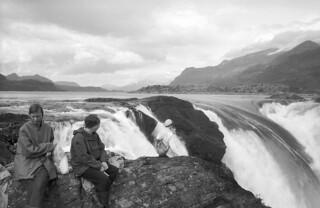 Stora Sjöfallet falls, Lappland, Sweden