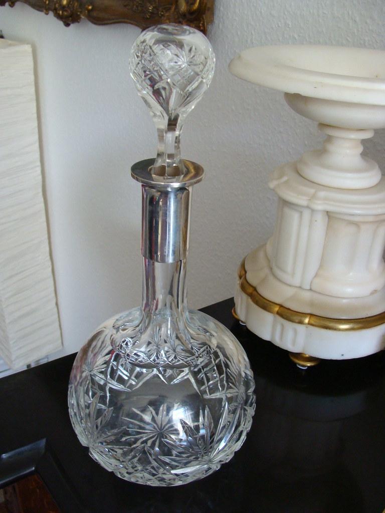 schw bisch gm nd wilhelm binder silber 800 kristall karaffe 31 5 cm wtb 1900 inmortalis. Black Bedroom Furniture Sets. Home Design Ideas