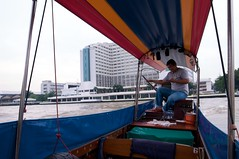 Taking a Boat to Taling Chan Floating Market