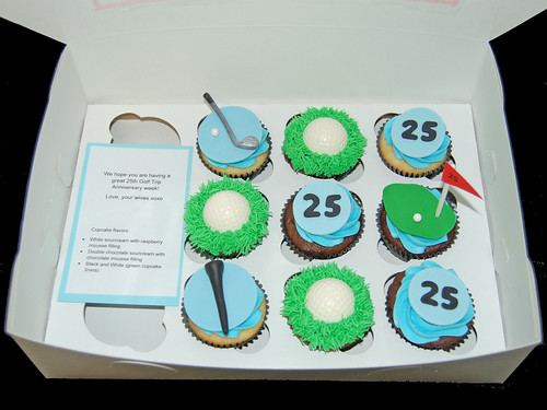 Golf Cupcakes for a group of friends on their 25th golf trip