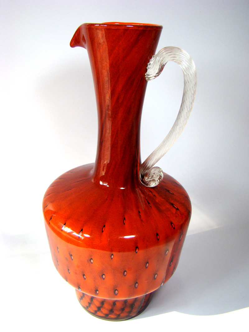 grosse vase 31cm vetreria carlo moretti jug pitcher. Black Bedroom Furniture Sets. Home Design Ideas