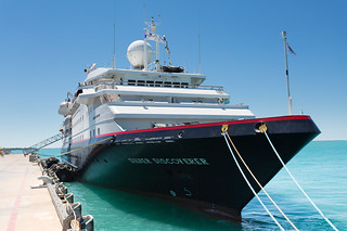 Silversea Discoverer in Broome