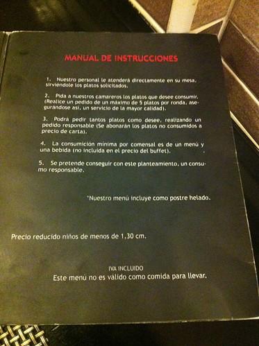 Alicante | Ming Cocina Asiática | Instrucciones del buffet