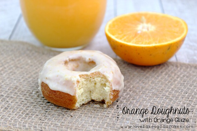 Orange Doughnuts with Orange Glaze are easier than you may think! Make a batch for breakfast! #doughnuts #orange #breakfast