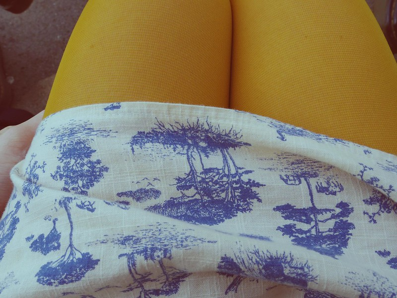 yellow tights for summer