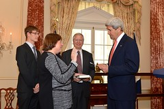 Secretary Kerry Swears in Under Secretary Novelli