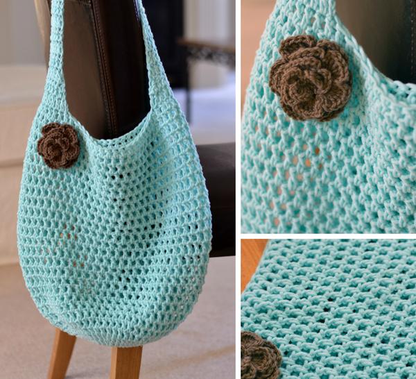 Crochet Market Tote Pattern : Down Grapevine Lane: Crochet market tote Scrumptious fabrics