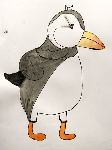 Morgan Lemm created this Atlantic puffin during the art workshop.