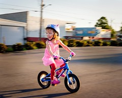 Penelope learned to ride a bike! This is her riding from mommy pretending to be a zombie.  #365project #learningtorideabike #summerfever #bikelife #ballard